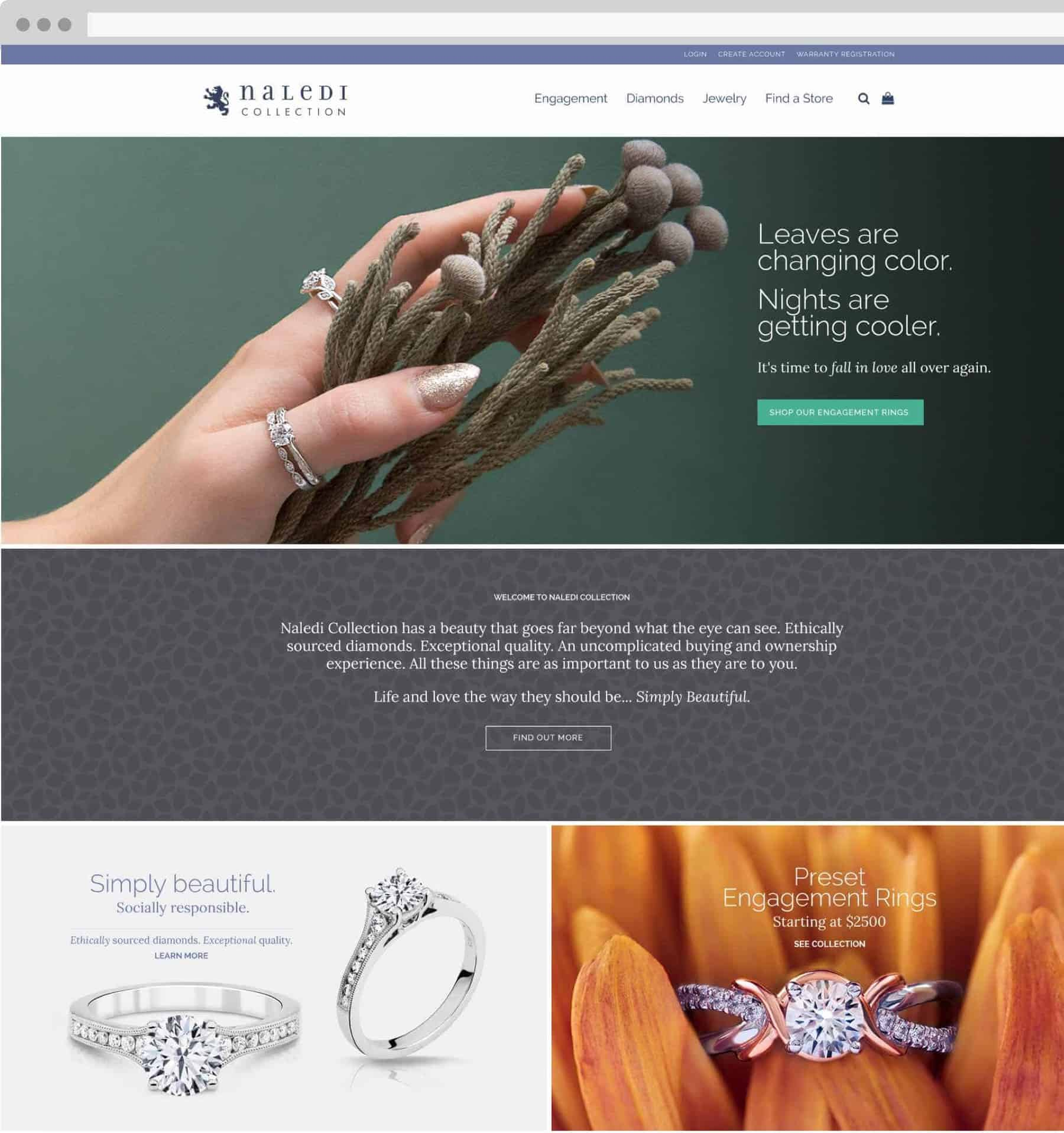 Naledi Collection page on desktop