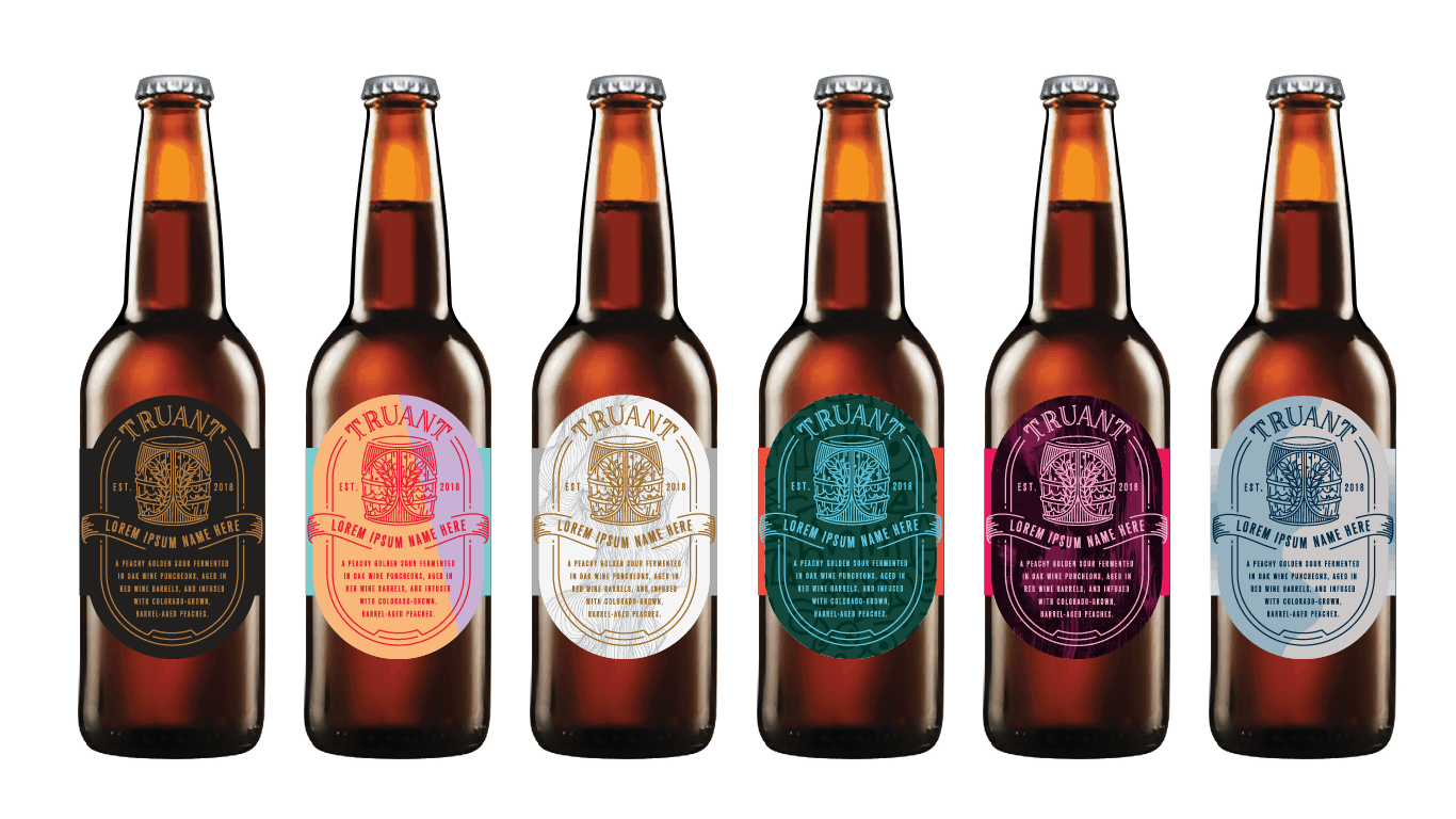 truant beer labels