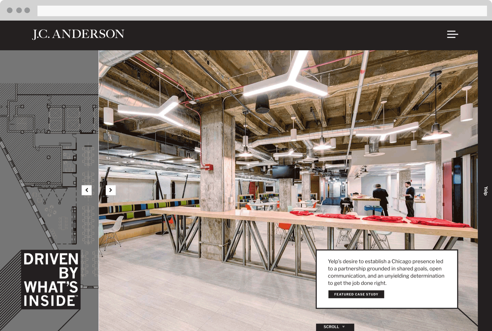 J.C. Anderson website by cultivate
